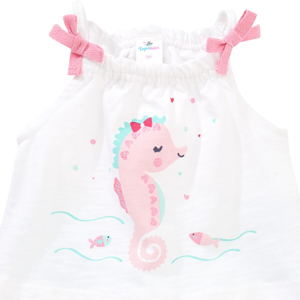 Bild 2 von Baby Strampler mit Seepferdchen-Print