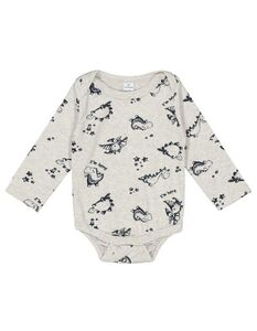 Newborn Body mit Dino-Print