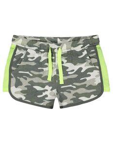 Mädchen Shorts mit Camouflagemuster