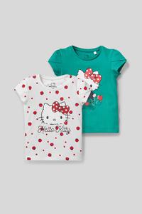 Hello Kitty - Kurzarmshirt - Bio-Baumwolle - 2er Pack