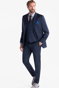 C&A Anzug-Tailored Fit-4 teilig, Blau, Größe: 46