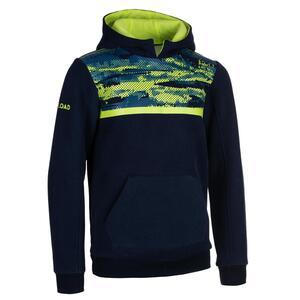 Rugby-Hoodie Kapuzen-Sweatshirt R100 Kinder blau