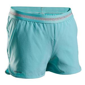 Tennis-Shorts TSH500 Mädchen türkis