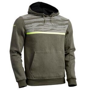 Rugby-Hoodie Kapuzen-Sweatshirt R100 Herren khaki