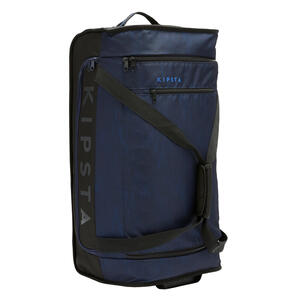 Sporttasche Trolley Essentiel 70 Liter schwarz/marineblau