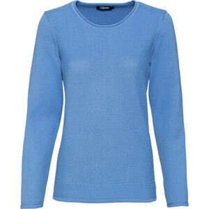 Olsen Struktur-Pullover, Rollsaumkante, für Damen
