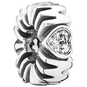 """Pandora Charm Glitzerndes Herz """"791520CZ"""", 925er Silber"""