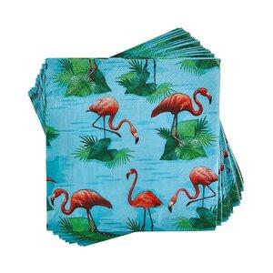 APRÈS Papierserviette Flamingos