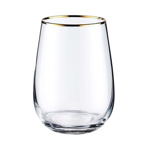TOUCH OF GOLD Glas mit Goldrand 590ml