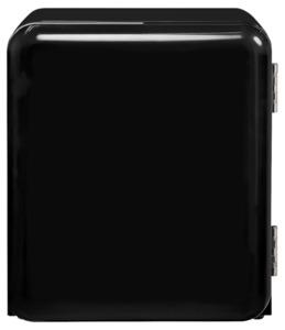 Exquisit Mini Retro Kühlschrank RKB 04-14, schwarz
