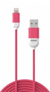 Schwaiger Lightning-Sync-Ladekabel, pink