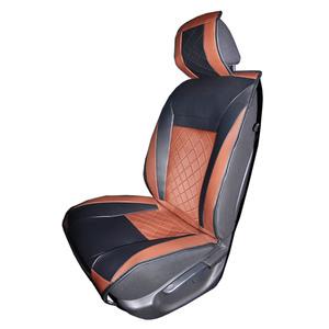 Diamond Car Autositzauflage - Schwarz/Cognac