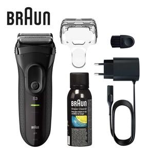 Rasierer Series 3-3020 Pro Skin · effiziente und sanfte Rasur · Mikrokamm + aktiver Mitteltrimmer für weniger Rasierzüge und verminderte Hautirritation · bis zu 45 Minuten kabellose Rasur