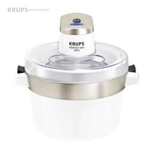 Eismaschine Perfect Mix 9000 · Gefrierbehälter mit 1,6 l Fassungsverögen · LCD Überwachungsanzeige · Automatikabschaltung · Akkustisches Signal am Ende  der Zubereitung