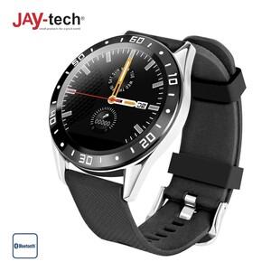 Smartwatch 1080 · Digitale Zifferblattanzeige · Schrittzähler, Blutdruck- und Blutsauerstoffmesser, Schlafüberwachung, Pulsmesser · Push-Nachrichten · Wasserfest gemäß IP67 · Android und iOS