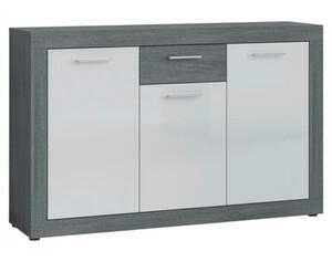 Sideboard Moreno Rauchsilber Nachbildung/weiß Hochglanz