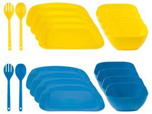 ERNESTO® Essen-Set, 10-teilig, inklusive Salatbesteck, spülmaschinengeeignet