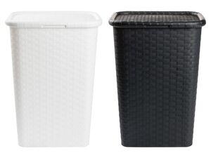 AQUAPUR® Wäschebox, 53 l Fassungsvermögen, mit Klappdeckel, in Rattan-Optik