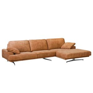 home24 ars manufacti Ecksofa Hendra I Cognac Echtleder 305x86x170 cm