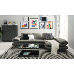 home24 loftscape Ecksofa Whaltey III Dunkelgrau Microfaser 269x83x172 cm