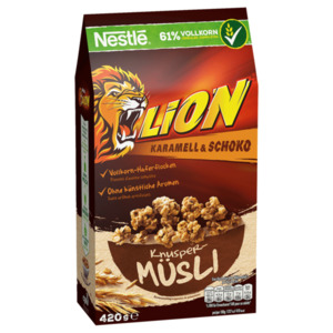 Nestle Lion Knusper Müsli Karamell & Schoko 420g