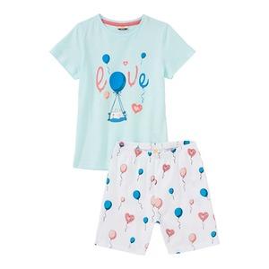 Mädchen-Shorty mit Luftballon-Muster, 2-teilig