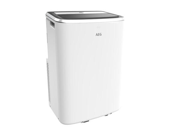 AEG AXP26U338CW ChillFlexPro Mobiles Klimagerät (Bis 40 m², 2,6 kW Kühlleistung, LED-Display, Fernbedienung, R290, Window Kit)