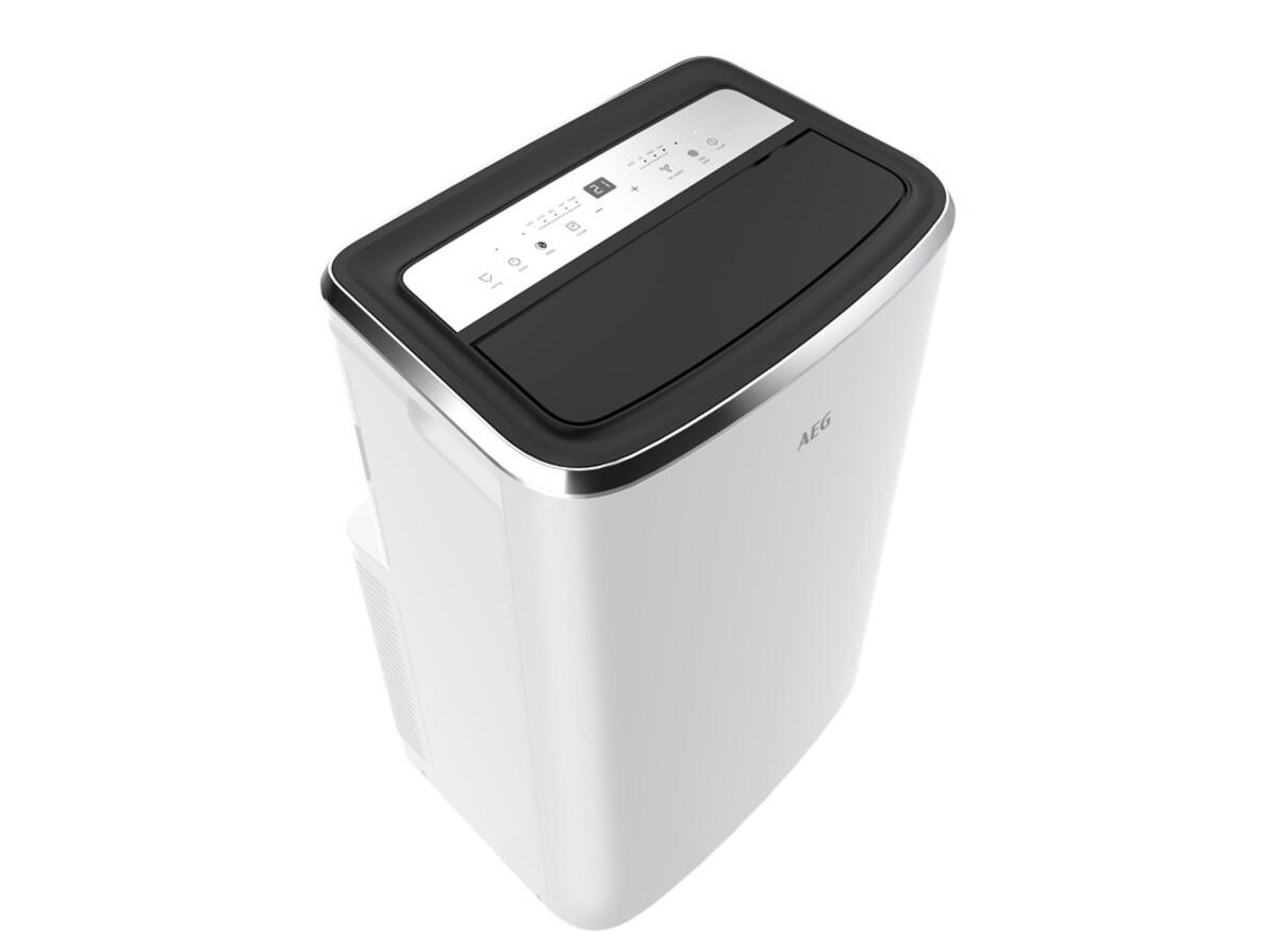 Bild 2 von AEG AXP26U338CW ChillFlexPro Mobiles Klimagerät (Bis 40 m², 2,6 kW Kühlleistung, LED-Display, Fernbedienung, R290, Window Kit)