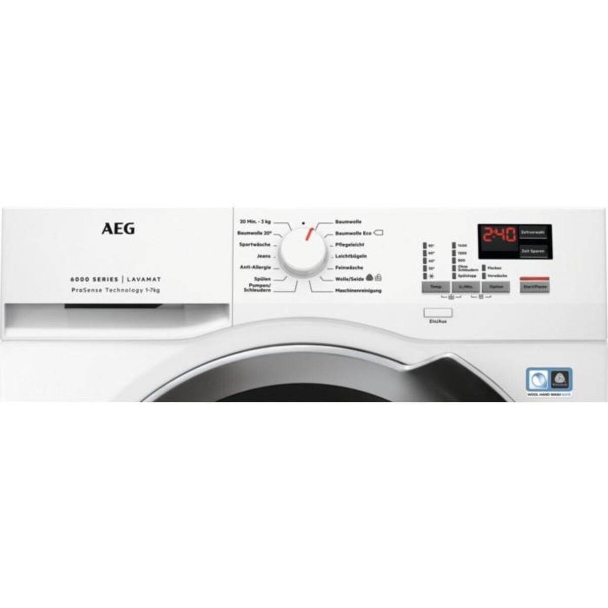 Bild 2 von AEG LAVAMAT L6FL700EX Waschmaschine (A+++, 7 kg, 1400 U/min, Display, Schontrommel, Aqua Control System, Alarm, XXL)
