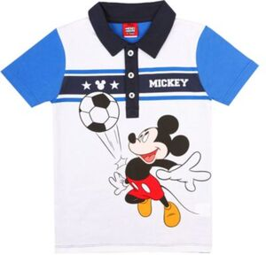 Disney Mickey Mouse & friends T-Shirt  blau/weiß Gr. 128 Jungen Kinder