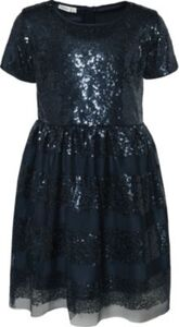 Kinder Kleid NKFSUSANNI mit Pailletten dunkelblau Gr. 164 Mädchen Kinder