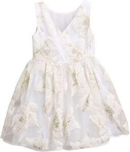 Kinder Kleid weiß Gr. 146 Mädchen Kinder