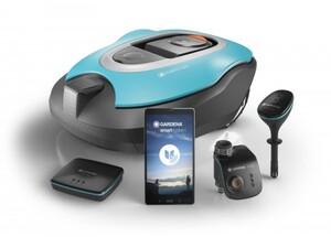 Gardena smart system Set Mähroboter, Water Control, Water Sensor, Gateway 22 cm Schnittbreite, 1.000 m²,+ Water Control, + Water Sensor, + Gateway
