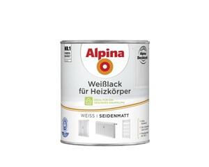 Alpina Heizkörperlack weiß 750 m, weiß, seidenmatt