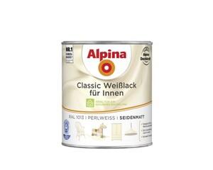 Alpina Weißlack Classic für Innen 750 ml, perlweiß, seidenmatt