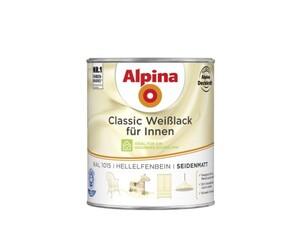 Alpina Weißlack Classic für Innen 750 ml, hellelfenbein, seidenmatt
