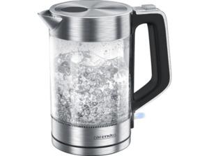 ARENDO 303076 Solid Wasserkocher in Transparent/Silber/Schwarz