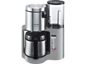 SIEMENS TC86505 Kaffeemaschine mit doppelw. Edelstahlthermokanne mit Softgriff in Urbangrau/Schwarz