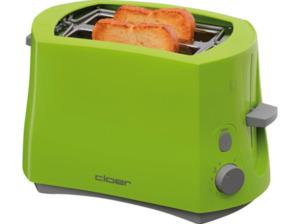 CLOER 3317-4 Toaster Grün (825 Watt, Schlitze: 2)