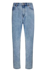 Hellblaue Cropped Jeans mit geradem Bein
