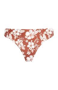 Bikinihose mit terracottafarbenem Blumenmuster