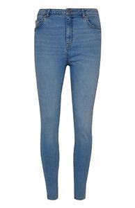Blaue High-Waist-Skinny-Jeans