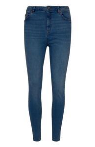 Dunkelblaue High-Waist-Skinny-Jeans