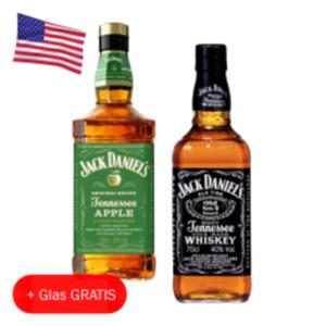 Jack Daniels Tennessee Whiskey, Apple, Honey oder Fire