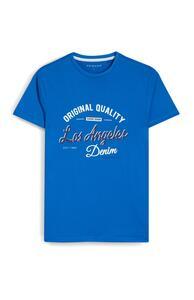 "Blaues T-Shirt mit ""Los Angeles""-Print"