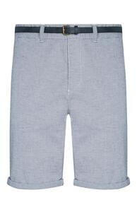Shorts mit marineblauem Gürtel und blauen Querstreifen