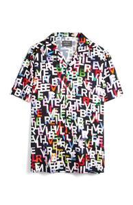 """Hemd mit mehrfarbigem """"Believer""""-Aufdruck"""