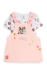 """Rosafarbenes """"Minnie und Daisy"""" Latzkleid mit T-Shirt für Babys (M)"""