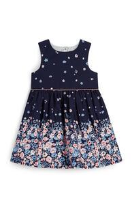 Marineblaues Kleid mit Blumenmuster für Babys (M)