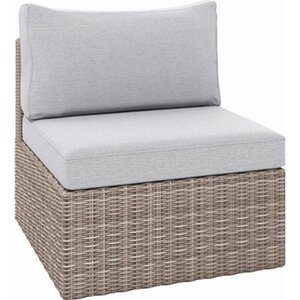 Lounge-Sessel Olea aus Polyrattan Sandfarben